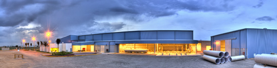 Panoramique sur l' usine d' APS